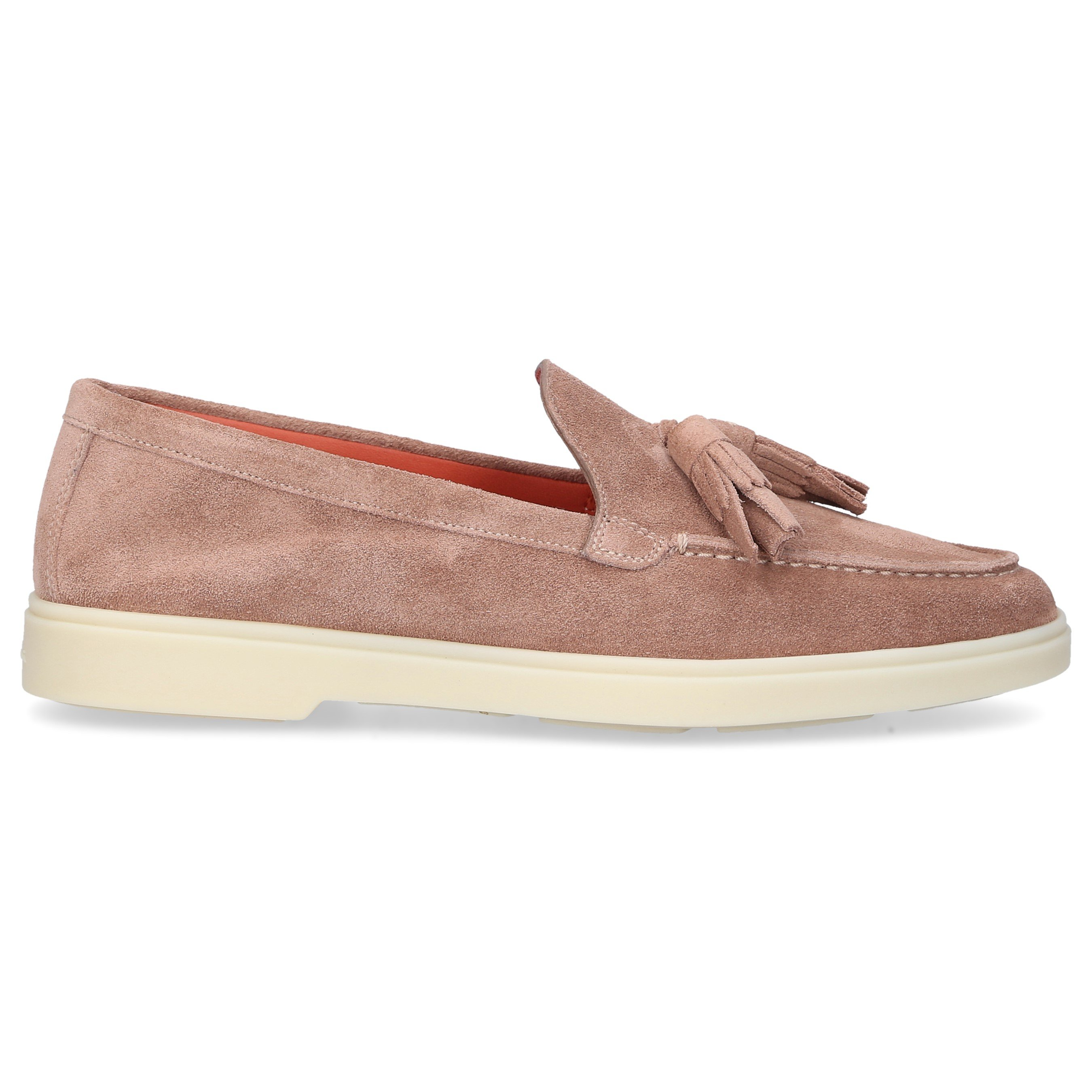 Santoni LOAFERS 58744 SUEDE PALE PINK