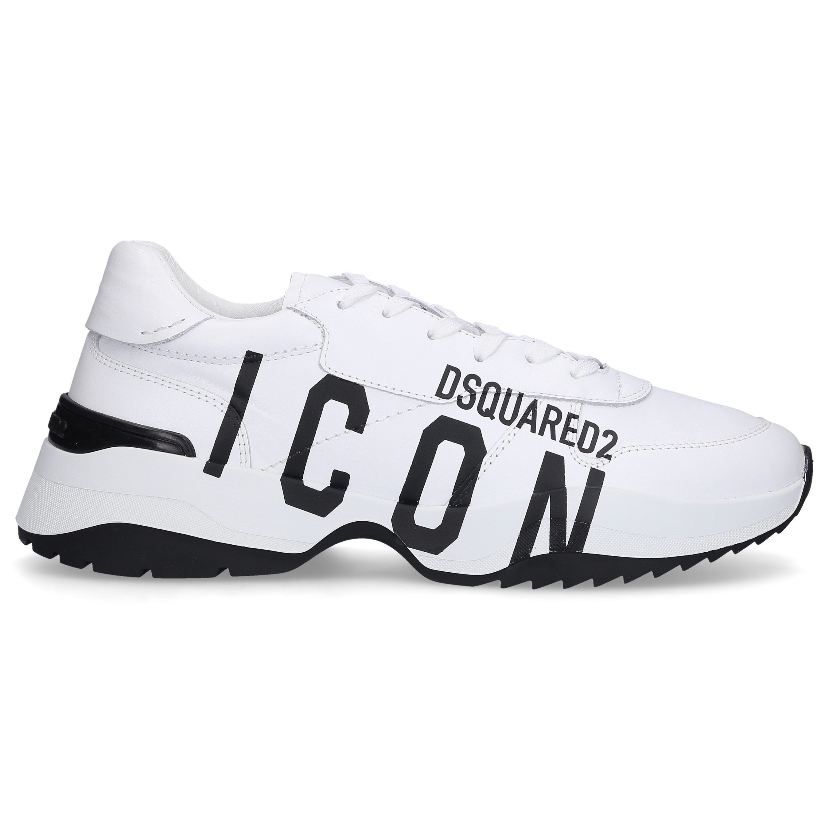 Dsquared2 LOW-TOP SNEAKERS D24 CALFSKIN LOGO WHITE