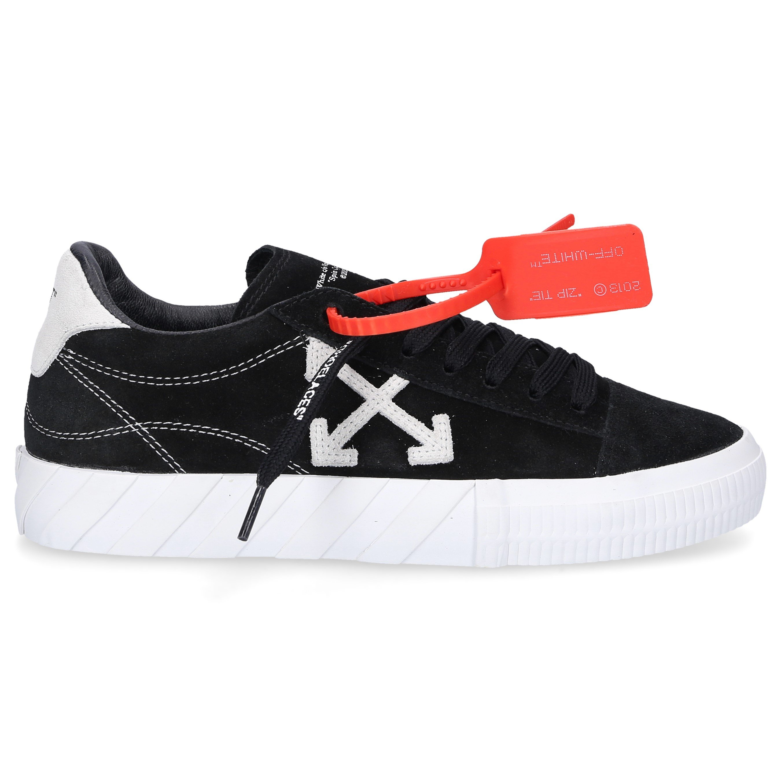 Off-White LOW-TOP SNEAKERS VULCANIZED SUEDE LOGO BLACK