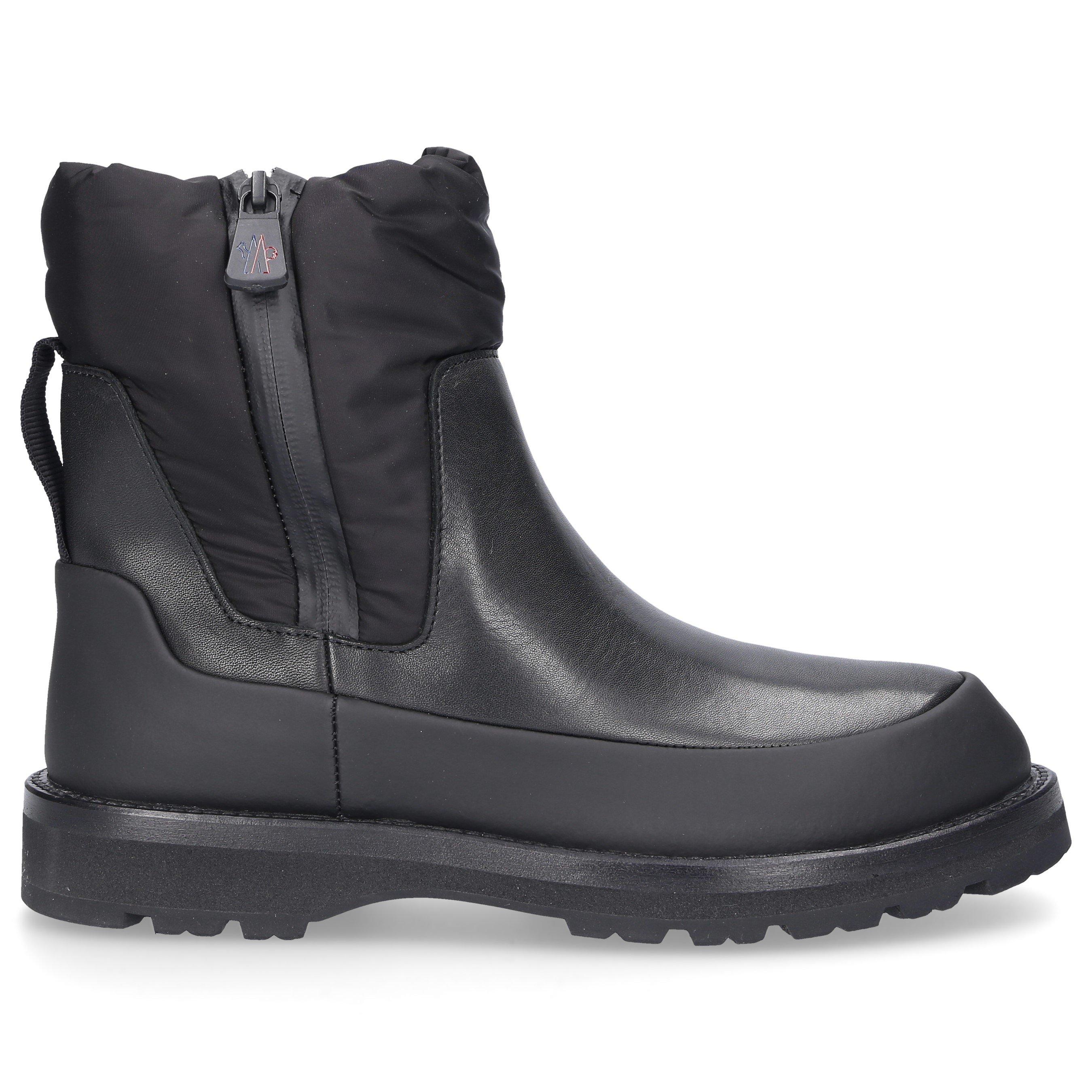 Moncler RAIN BOOTS RAIN DON'T CARE GUM NYLON LOGO BLACK