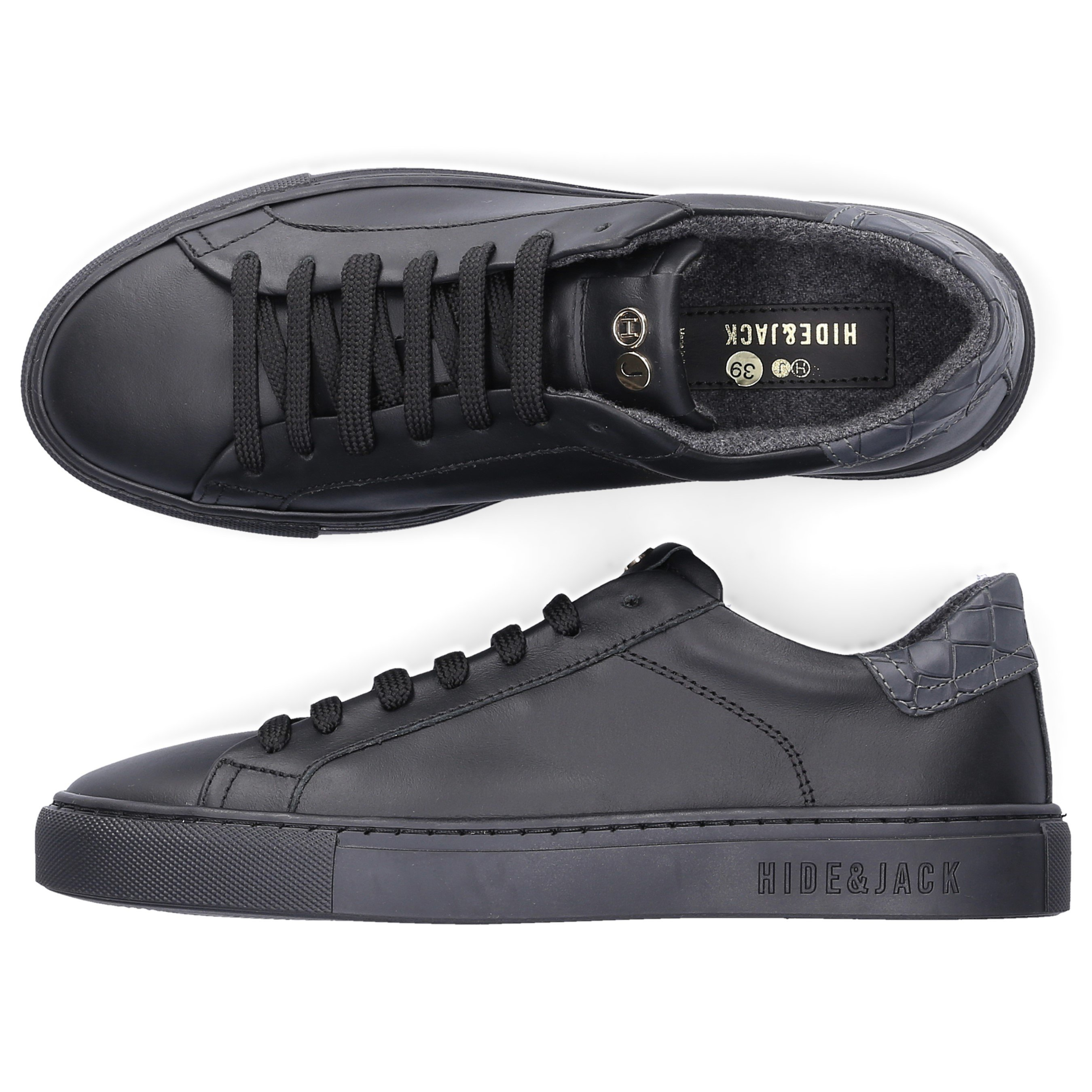 Hide & Jack Low-Top Sneakers Low Top Sneaker In Black