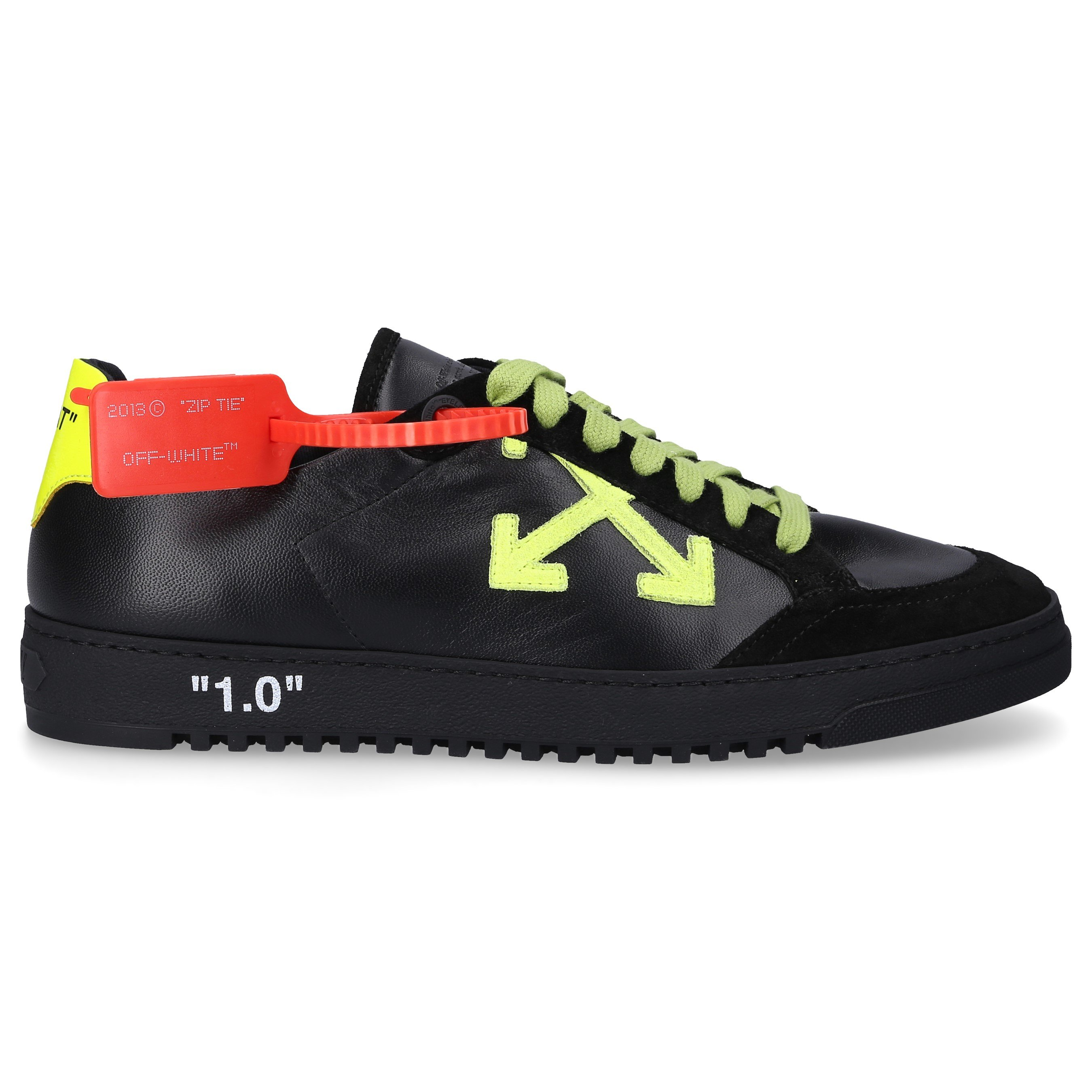 Off-White Low-Top Sneakers 2.0 Calfskin Patch Black-Combo