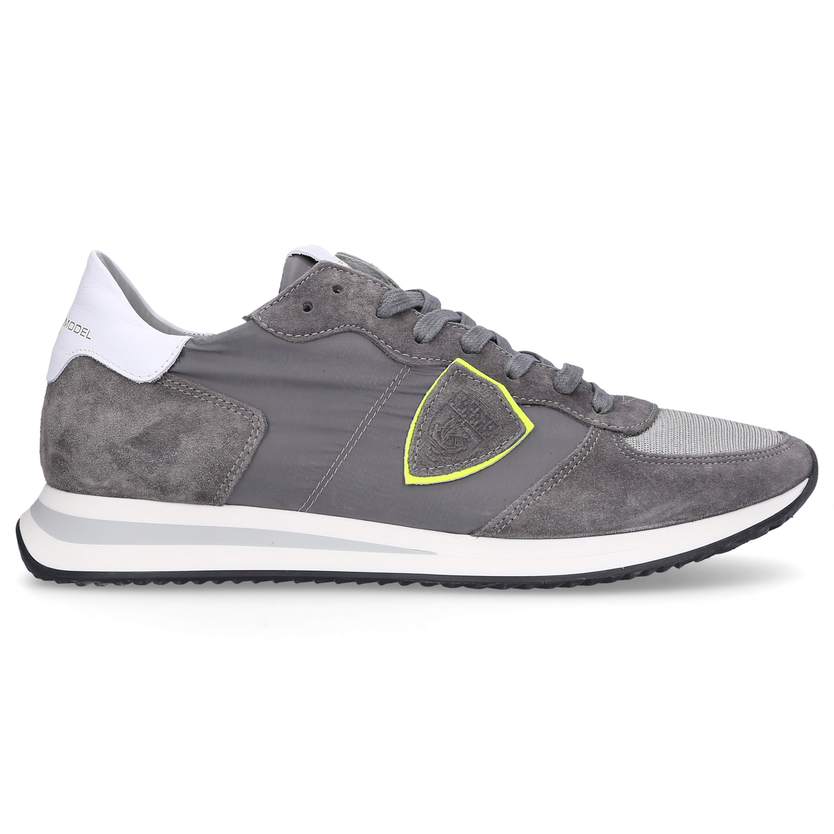 Philippe Model Low-Top Sneakers Trpx Calfskin Logo Patch Grey