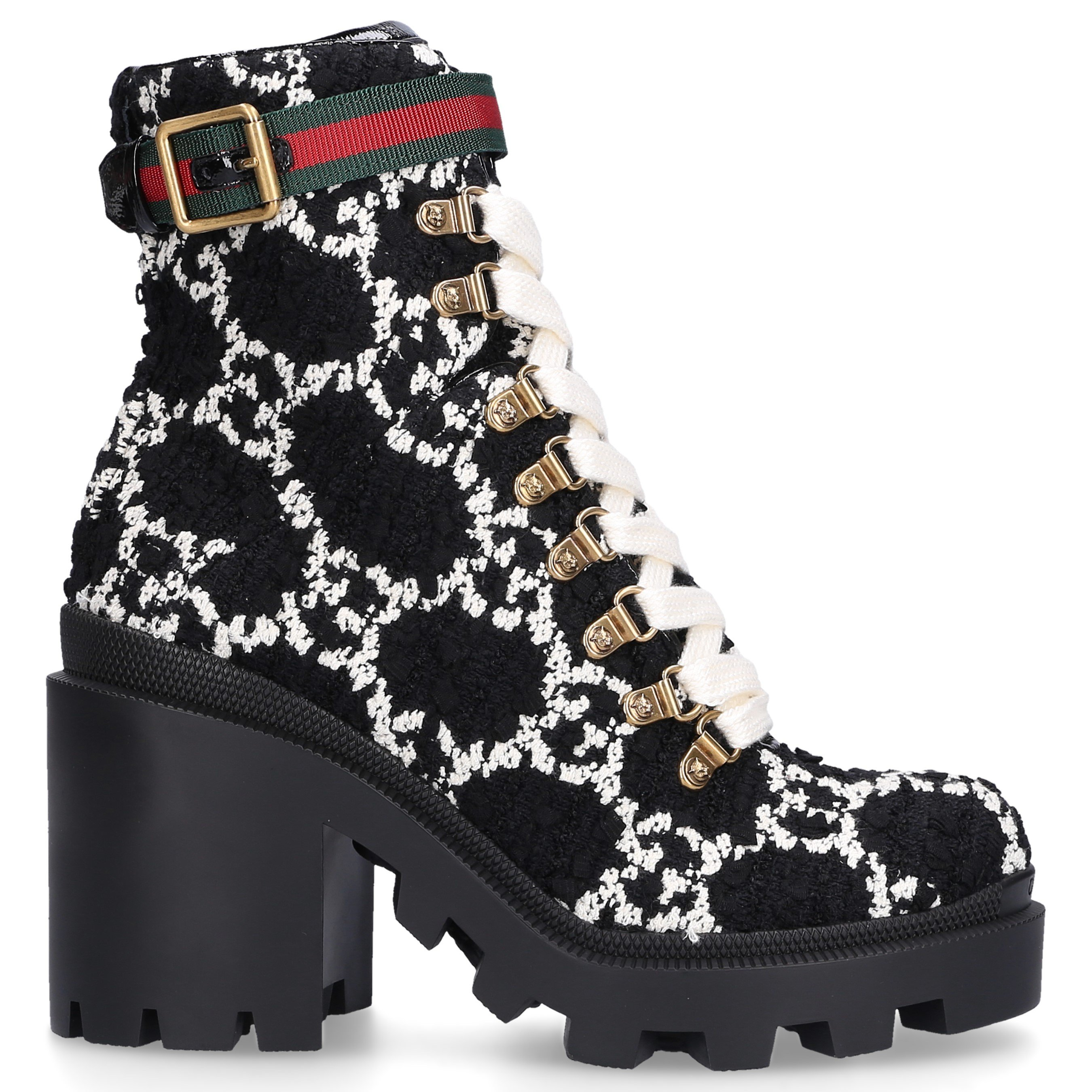 Gucci Gucci Lace Up Ankle Boots GG