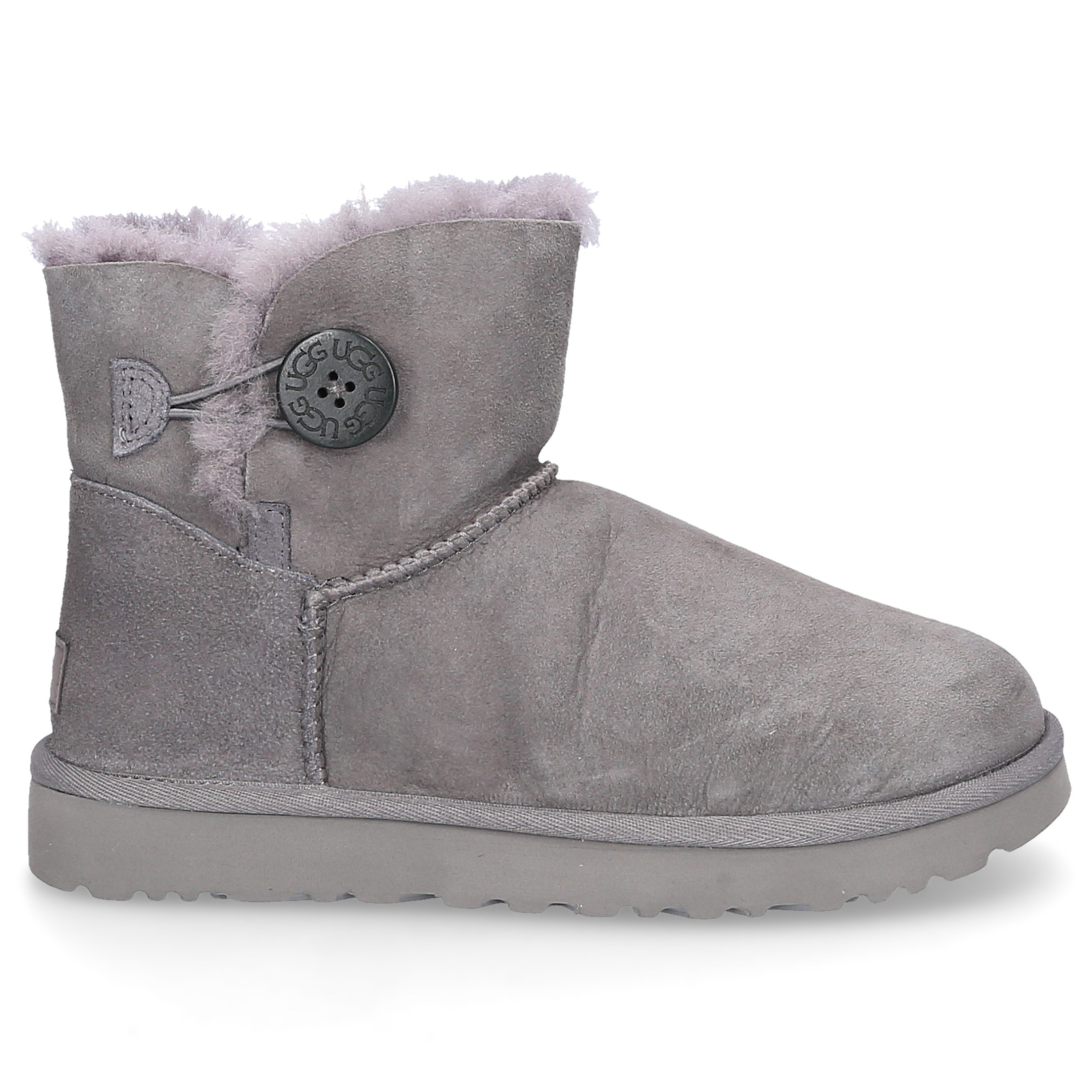 Snowboots Mini Bailey Bow Button Ii Lammleder Grau In Grey