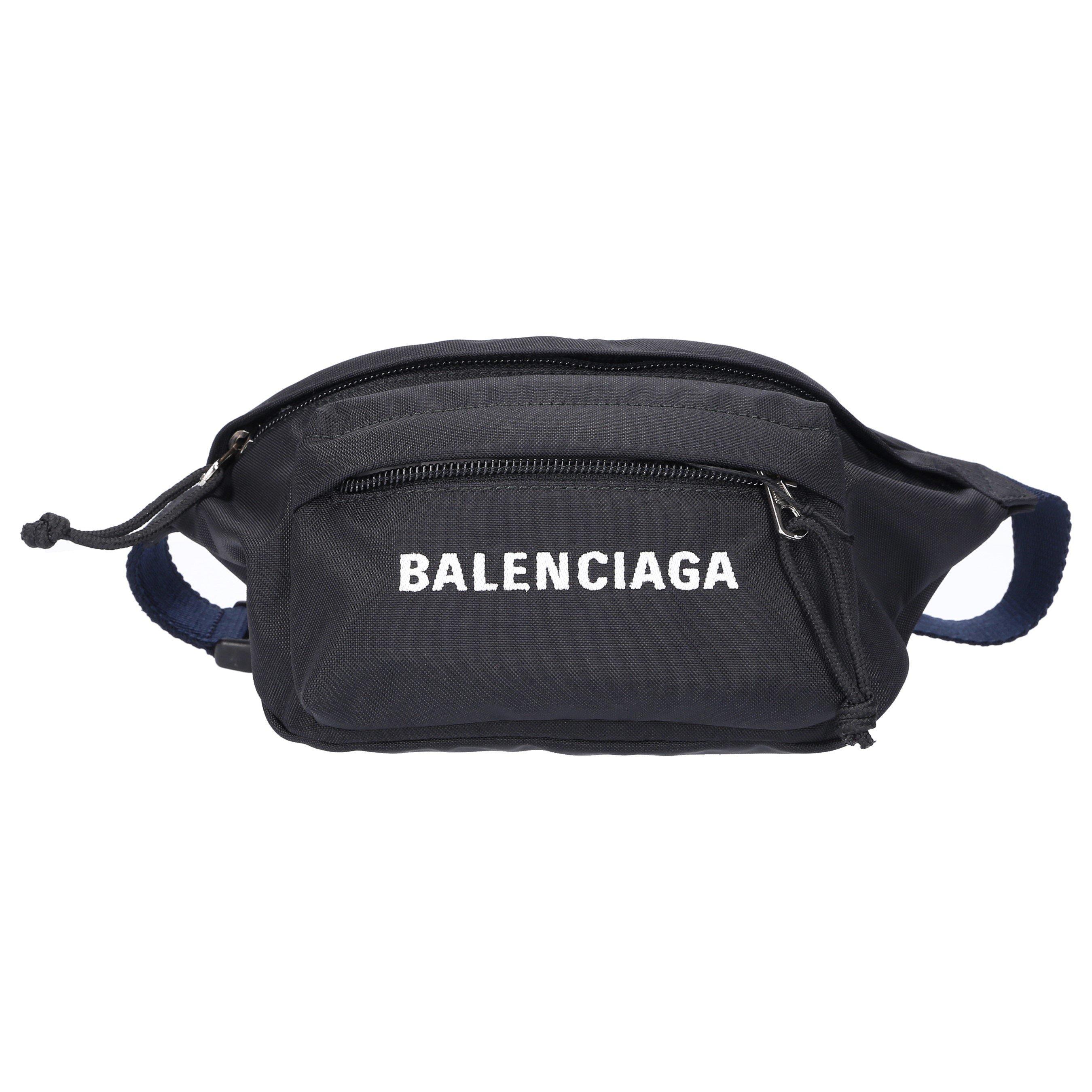 Balenciaga Women Belt Bag Wheel Beltpack S Nylon Logo Black