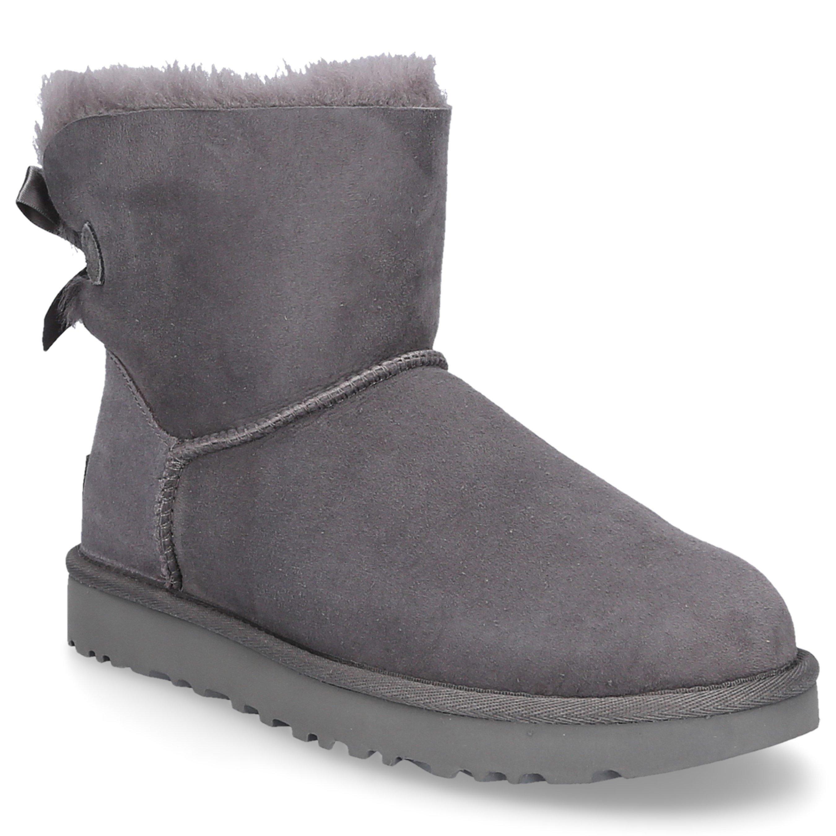 Snowboots Mini Bailey Bow Ii Lammleder Grau In Grey