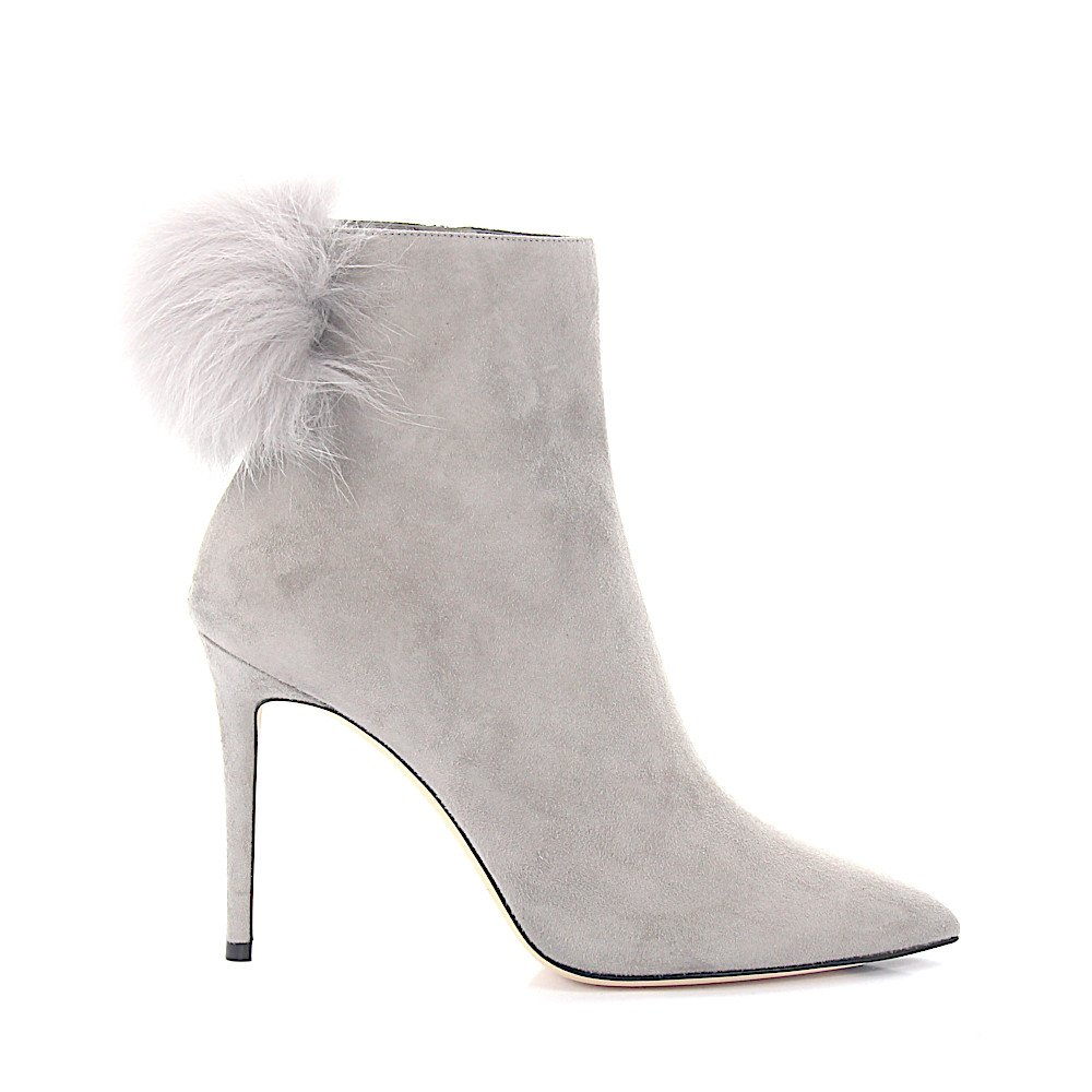 Jimmy Choo Jimmy Choo Ankle boots suede Fur upper Pompom